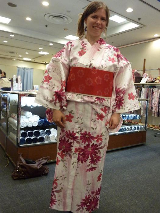 Me wearing yukata
